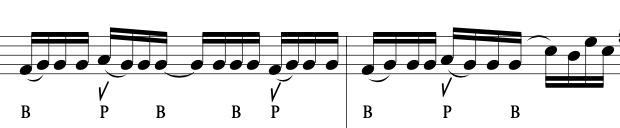 Beatbox Flute 樂譜示意圖