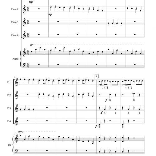Little 007 Star beatbox flute quartet & piano 小星星長笛四重奏